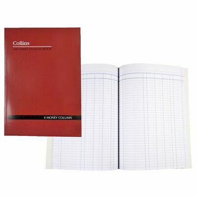Collins A60 A4 Analysis Book 4 Money Column
