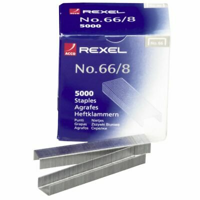 Rexel No. 66 8mm Staples 5000 Pack
