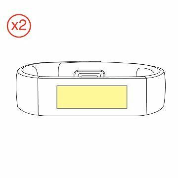 Martin Fields Overlay Plus Screen Protector (Microsoft Band) Twin Pack
