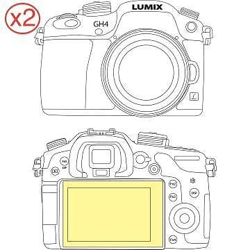 Martin Fields Overlay Plus Screen Protector (Panasonic Lumix GH4) Twin Pack