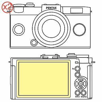 Martin Fields Overlay Plus Screen Protector (Pentax Q-S1) Twin Pack