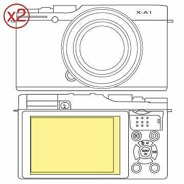 Martin Fields Overlay Plus Screen Protector (FujiFilm X-A1) Twin Pack