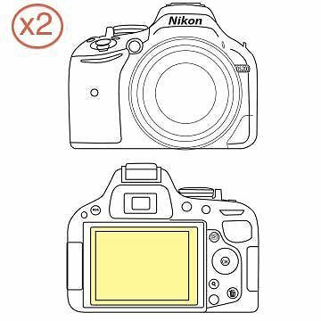 Martin Fields Overlay Plus Screen Protector (Nikon D5200) Twin Pack