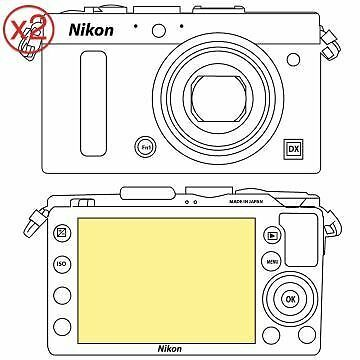 Martin Fields Overlay Plus Screen Protector (Nikon CoolPix A) Twin Pack