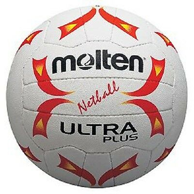 Brand New Molten Ultra Plus Netball Vulcanised Rubber Hand Stitched Size 4