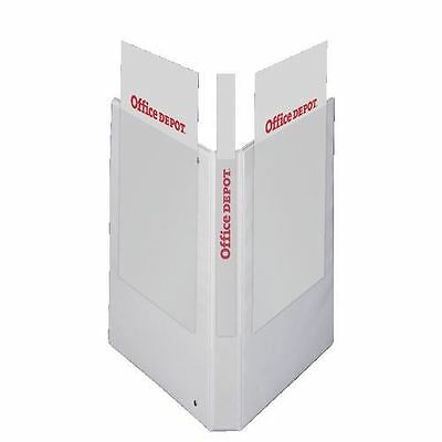 Office Depot Presentation Ring Binder A5 2D 20mm Capacity 40mm Spine Width White