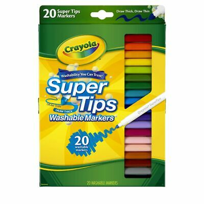 Crayola Super Tips Coloured Markers 20 Pack