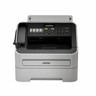 NEW Brother Fax Machine Mono Laser Fax Grey FAX-2840 Fax Machines Phone Fax