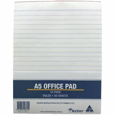Costcutter Ruled A5 Notepad 10 Pack