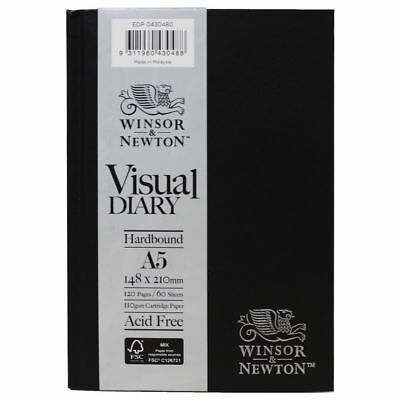 Winsor & Newton A5 Hard Cover Visual Diary 120 Page