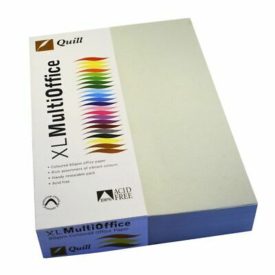 Quill Coloured Paper 80gsm A4 Grey 500 Sheet Ream