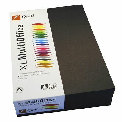 Quill Coloured Paper 80gsm A4 Black 500 Sheet Ream