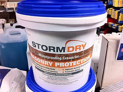 Storm Dry - 8 Litre Of Stormdry Covers - 40M Sq Approx  - Free Brush And Gloves
