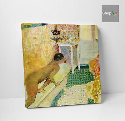Quadro Vernice Pennellate Pierre Bonnard The exit of the Bath Stampa su Tela