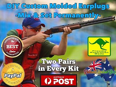 2 pairs in 1 Kit - Shooting DIY Custom Molded Earplugs Hunting Ear Plugs Aus