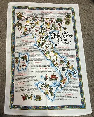 Tea Towel Of Italy 33x22 Inch-Italia Dei Vini E...-100% Cotton