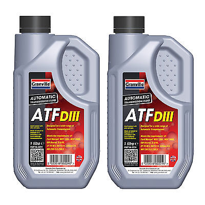 2 x Granville Automatic Transmission Fluid ATF Dexron 3 Power Steering Oil 1L