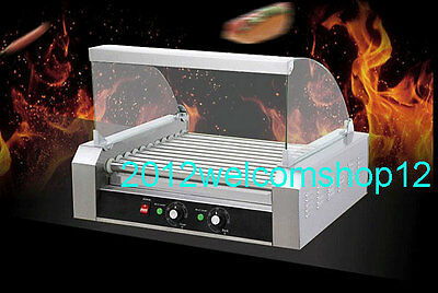 HOT DOG MACHINE ROLLER GRILL 9 Rollers Double Temperature control 110V/220V