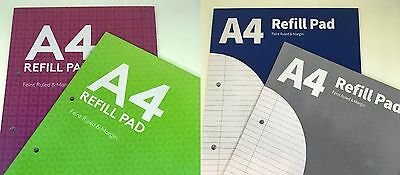 Pennine A4 lined Refill pad 200 pages with margin + punched 54gsm