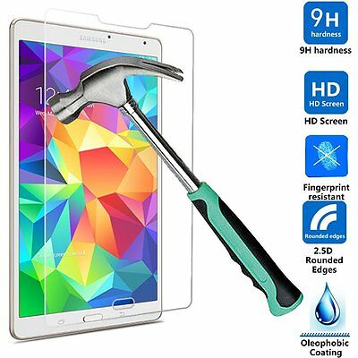 """Genuine Tempered Glass Screen Protector For Samsung Galaxy Tab S 8.4"""" SMT700/705"""