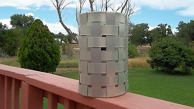 Hand made- crafted Aluminum Weave Sconce - Theater Light - Porch light Fixture
