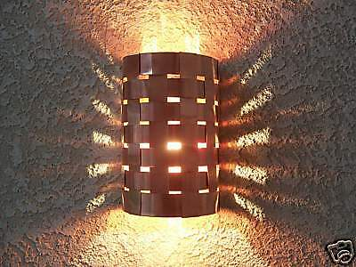 Hand made crafted Copper Weave Sconce - Theater Light - Porch light Fixture