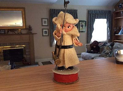 Antique c 1900's German Rare  Jointed Arms Swiss Doll Candy Container VGC!