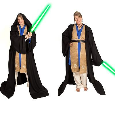 Jedi Custom Cosplay Sith Wool Halloween Costume Padawan Robe Tunic Set adult Men