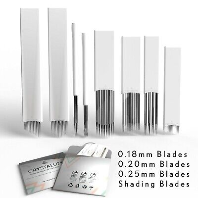 Microblading Eyebrow Blades Shading Needles Tattoo Curved Manual SPMU Makeup