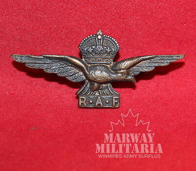 WW2 RAF Eagle, Side Cap Badge, Officers Issue (inv 7158)