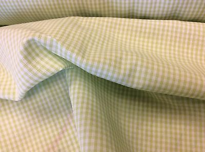 Children's Corner Lime Green & White Gingham 1/32-  63 Inch Wide-  By The Yard