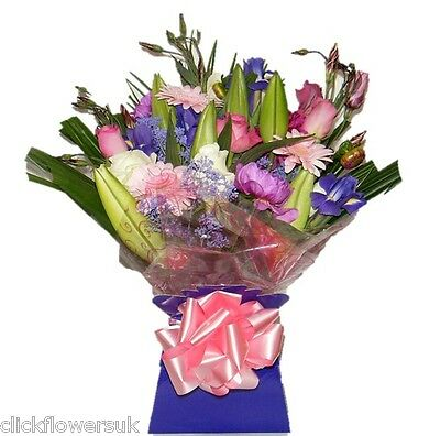 FRESH REAL FLOWERS  Delivered UK Perfect For All Occasions Bouquet Free Delivery