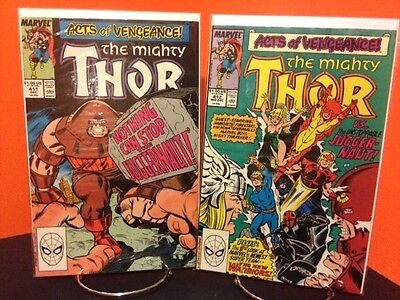 THOR 411& 412 1st Appearance NEW WARRIORS Marvel Comics Lot Ron  Frenz 1989 NM