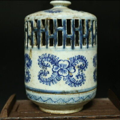 Chinese Qing blue and white hollow aroma lamps incense burner