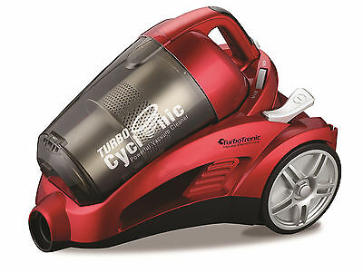 TurboCyclonic 2200W 4L Compact Bagless Cylinder Vacuum Cleaner Hoover RED
