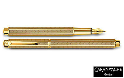 Caran d'Ache Gold-plated Ecridor Chevron Fountain Pen Fine 958.198