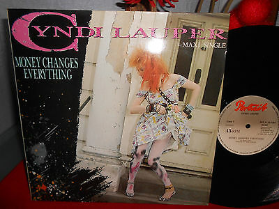 "Cyndi Lauper ‎– Money Changes Everything 12"" MAXI SPAIN 1984 NM TOP RARE"