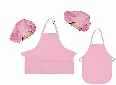 A200MD-SET Mother Daughter/Son Bib Aprons and Chef Hats Set!