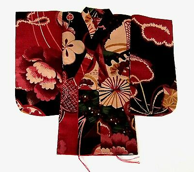 Japanese Handsewn Cotton Doll Kimono - Exotic FLOWERS !