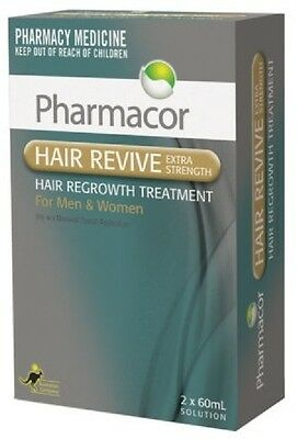 => Hair Revive Minoxidil 5% for Hair Loss Generic Regain 2 x 60ml Men & Women