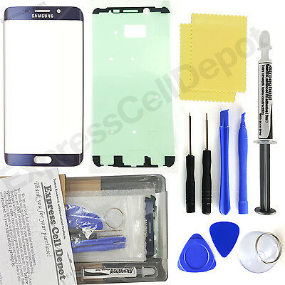 9389617c83f Blue Samsung Galaxy S6 Edge+ Plus G928 Replacement Front Screen Glass  Repair Kit