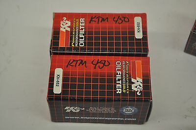 2 NEW KTM K&N OIL FILTERS 07-13 350 450 530 505 EXCF SXF XCW SMR XCF gearbox