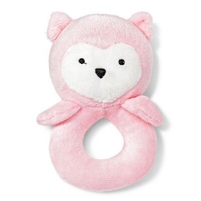 Carters Pink Baby Girl Rattle Toy Owl 0-12 Months Gift Baby Shower NWT
