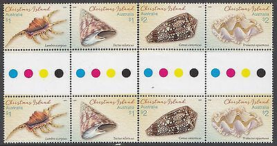 Christmas Island 2016 Shells Set of 2 Gutter Pairs