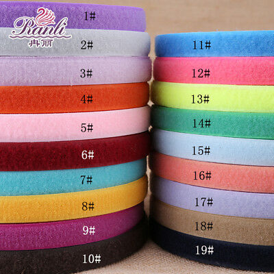 5 yards-SEW ON HOOK and LOOP  FASTENER TAPE 25mm wide 20 COLOURS Velcr