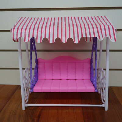 Dollhouse Miniature Furniture Garden Swing Play Set for Barbie Toy Xmas Gift