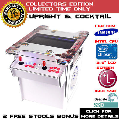 2017 White Arcade Machine Tabletop Video Game Upright Cocktail Pinball Pool
