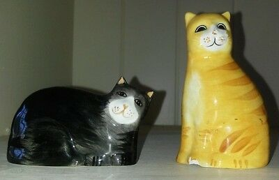 Vintage Retro Kitsch Cat Salt And Pepper Shakers