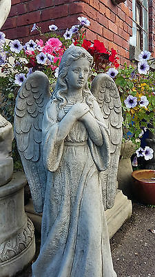 Stone Garden Large Standing Angel / Fairy Memorial Statue Ornament