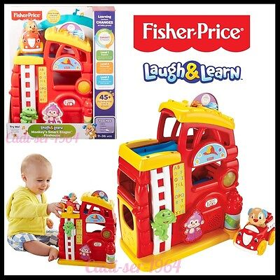 Fisher-Price Laugh and Learn Monkey's Smart Stages Firehouse Educational Toy NEW